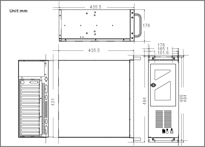 RACK360G 4U 14-Slot Full-Size Rack Mount Chassis